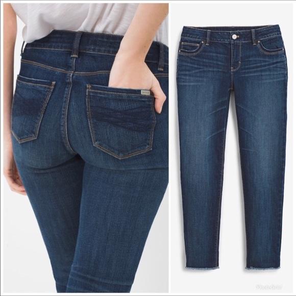 967579cc2d796 White House Black Market Jeans | Whbm Slim Crop Raw Hem | Poshmark